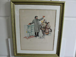 Expert Salesman-limited 277/300 Plate Signed Original Print By Rockwell. Rare.