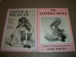Lot Of 2 Vintage Paperback Dare Wright Lonely Doll Photograph Storybooks