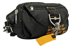 Ac-usa Tactical Parachute Fanny Pack Military Flight Style Camp Hike Bag Blk
