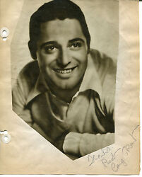 Cary Grant Signed Vintage 8x10 Album Page W/photo Bringing Up Baby Notorious Jsa