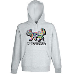 Yorkshire terrier - my bodyguard c - NEW COTTON GREY HOODIE