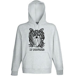 Yorkshire terrier my bodyguard - NEW COTTON GREY HOODIE