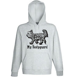 Yorkshire terrier 2 my bodyguard b - NEW COTTON GREY HOODIE