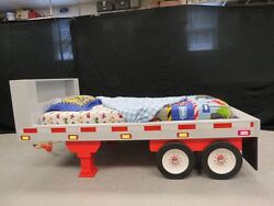 Kids Flatbed Trailer Theme Bed