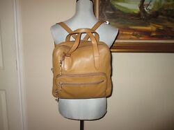 Fossil Satchel Backpack Genuine Leather $79.99