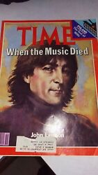 John Lennon - Time Magazine - When The Music Died-dec 22 1980. Great Condition.