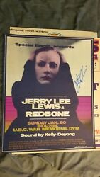 Jerry Lee Lewis Rock N Roll Hall Of Fame Autographed Concert Poster