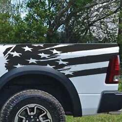 Tailgate Rear Distressed Usa American Flag Truck Vehicle Viny Decal Bed Graphic