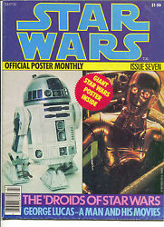 Star Wars Official Poster Monthly 7 1977 C-3po R2-d2 Ep4 New Hope