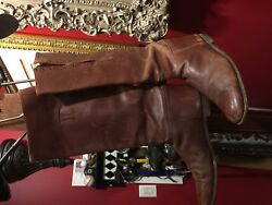 Wwi Wwii Us Cavalry Officer Shaft Lace Riding Boots Excellent Condition Size 10