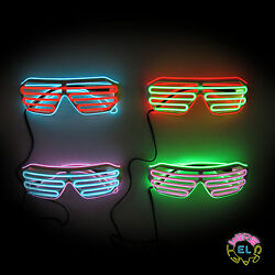 El Glasses Andndash Glow Shutter Glasses In White - Dual Colours With Choice Of Drivers
