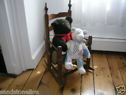 Rare Antique Bergen County Hackensack N.j. Childand039s Rocking Chair Circa 1790and039s