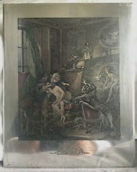 Antique Silver Plated Printing Plate France C.1850