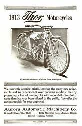1913 Thor Motorcycles Brochure Antique Reproduction