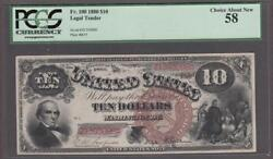Fr. 100 1880 10 Legal Tender Pcgs Choice About New 58.