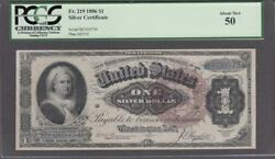 Fr.219 1886 1 Silver Certificate Pcgs About New 50.