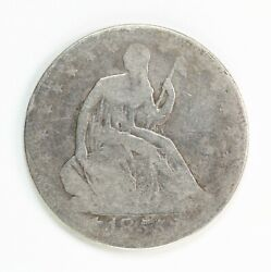 Raw 1855-o Seated Liberty 50c With Arrows Circulated New Orleans Mint Silver