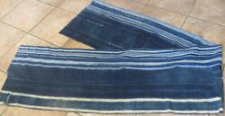 """One-of-a-kind Long Shawl, 18""""x106"""", Made From Vintage African Indigo Textiles"""