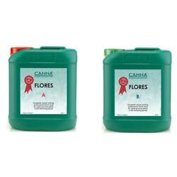 Canna Flores AB Set - 5 Litres - Hydroponic Flowering Bloom Nutrients