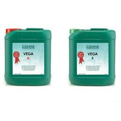 Canna Vega AB Set - 5 Litres - Hydroponic Grow Growing Growth Nutrients