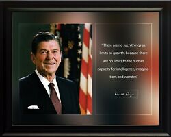 Ronald Reagan There Are No Such Things Poster Print Picture Or Framed Wall Art