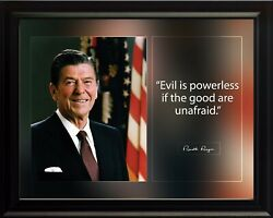 Ronald Reagan Evil Is Powerless Poster Print Picture Or Framed Wall Art