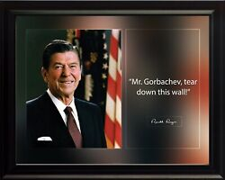 Ronald Reagan Mr Gorbachev Poster Print Picture Or Framed Wall Art