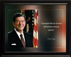 Ronald Reagan A People Free Poster Print Picture Or Framed Wall Art