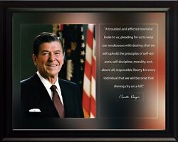 Ronald Reagan A Troubled Poster Print Picture Or Framed Wall Art