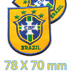 Brazil National football team Embroidered Iron On Patch Classic Logo Soccer CBF