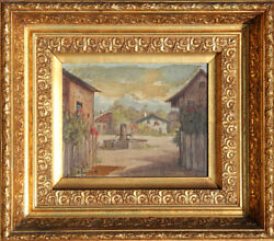 Eugene La Foret, Village Scene 1, Oil Painting