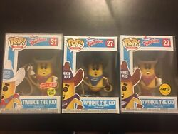 Twinkie The Kid Chase And Common And Target Lot Funko Pop With Pop Protector