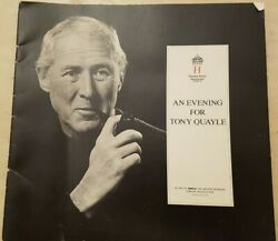 THEATRE PROGRAMME AN EVENING FOR TONY QUAYLE GBP 5.99