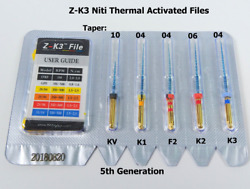 Dental Endo Z-K3 Root Canal NiTi Hot Memory Files Thermal 25mm 5pcsKit Assorted