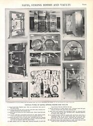 Vintage Print/plate 1929 Encyclopedia Britannica - Safes, Strong Rooms And Vaults