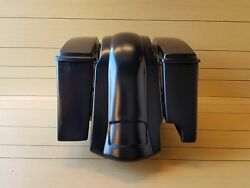 Extended 4 Bags For 2-1 Exhaust Lids And Rear Fender For Harley Davidson