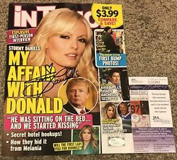 Stormy Daniels Signed In Touch Magazine Donald Trump Jsa Certified Rare