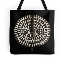 EXCLUSIVE AFRICAN BOBO BWA SUN MASK DESIGN TOTE BAG  Stunning Functional Art