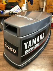 89 Yamaha Pro 50 Hp 2 Stroke Outboard Top Cowl Hood Cover Freshwater Mn