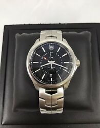 Tag Heuer Link Cal 7 Gmt Automatic Swiss Made Wrist Watch With Original Box