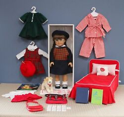 American Girl Doll Molly Large Lot Doll, Bed, Accessories Retired Euc