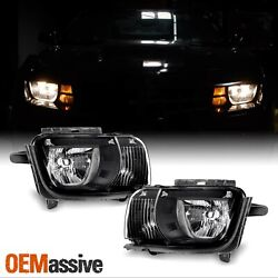 [black] Fits 2010 2011 2012 2013 Chevy Camaro Left + Right Side Headlights Pair