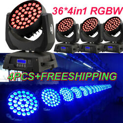 3610w Rgbw 4 In 1 Led Moving Head Zoom Moving Head Wash 4pcs Free Shipping