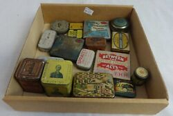 Lot Of 17 Small Antique Advertising Tins Of Various Products