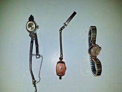 Antique Jewelry Wind Up Watches Gruen, Elgin And Caravelle Branded, Some Gold