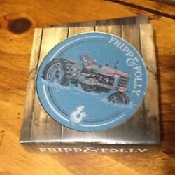 Stone Coaster Set Of 4 Farm Tractor Fripp And Folly New Rooster