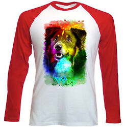 BLACK COLLIE NEW RED SLEEVED TSHIRT