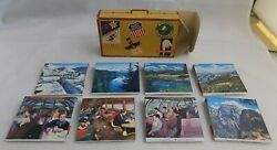 Union Pacific Railroad Matchbook Match Cover Suitcase W/8 Books Usa Scenes Up