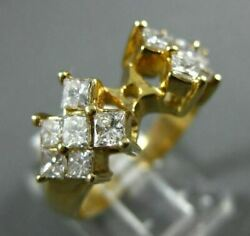Wide 1.02ct Diamond 14kt Yellow Gold Invisible Semi Mount Engagement Ring 1274