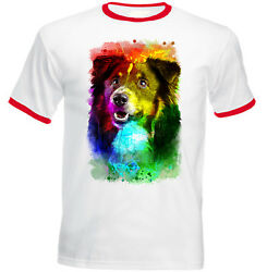 BLACK COLLIE NEW COTTON RED RINGER TSHIRT